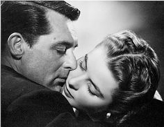 """Cary Grant and ingrid Bergman. The longest kiss filmed - from """"Notorious"""""""