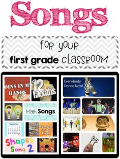 Songs for your first grade classroom - A day in first grade