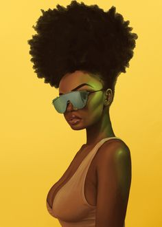 Art Black Love, Sexy Black Art, Black Girl Art, My Black Is Beautiful, Black Art Painting, Black Artwork, African American Art, African Art, Natural Hair Art