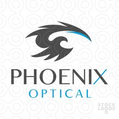 Logo for sale: creative logo design. The phoenix/bird design is deigned to form the shape of an eye.