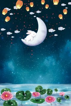 Download free Mid-Autumn Festival Poster Background images on heypik.com. Browse millions of quality photos, images, vectors, art and more at heypik. Happy Mid Autumn Festival, Chinese Festival, Beginner Art, Simple Illustration, Cute Backgrounds, Cute Animal Drawings, Festival Posters, Autumn Theme, Galaxy Wallpaper