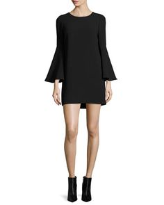 Aurora+Bell-Sleeve+Mini+Dress,+Black+by+Elizabeth+and+James+at+Neiman+Marcus.