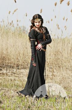 MEDIEVAL COTTON DRESS - bridesmaid dress idea $159.99 - MAYBE if we can get in burgundy with gold laces