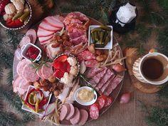 Platou aperitiv cu preparate traditionale din carne de porc. Platou aperitiv cu preparate traditionale pentru masa de Craciun si Revelion. Aperitive festive Dairy, Cheese, Pork