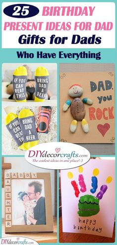 Birthday Present Ideas for Dad - 25 Gifts for Dads Who Have Everything Birthday Presents For Dad, Cute Birthday Cards, Dad Birthday Card, Ball Birthday, Presents For Him, Diy Presents, 25th Birthday, Birthday Gifts, Daddy Gifts