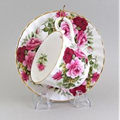 English Bone China Summertime Rose Cup & Saucer
