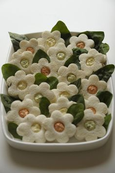 Tartine à bouquet (tramezzini fioriti)