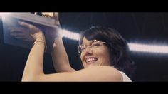"""""""Emma Stone is breathtaking, she's never been better.""""- The Wrap  Don't miss Emma Stone as Billie Jean King in Battle of the Sexes // NOW PLAYING EVERYWHERE!"""