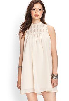 High Neck Trapeze Dress | Love21 - 2000070503