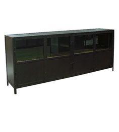 Armario de hierro envejecido y chapa de acero con estante de madera envejecida ( o de hierro). Se hace a medida, tanto en tamaño como en materiales.