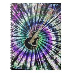 Crazy Tie-Dye Effect Guitar Music Notebook   #guitar