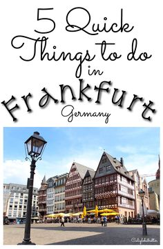 5 quick things to do in frankfurt trip гамбург, франкфурт, п Europe Travel Tips, Places To Travel, Travel Destinations, Traveling Tips, Travel Guides, Visit Germany, Germany Travel, European Vacation, European Travel