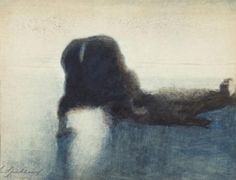 "Le noyé 1910 View Post See also Léon Spilliaert Le noyé 1910 "" Various Artists, Macabre, Les Oeuvres, Prints, Painting, Grey Light, Darkness, Image, Chiaroscuro"