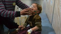 A Syrian boy receives treatment at a local hospital following an alleged chlorine gas attack in the Idlib suburb of Jabal al-Zawia on April 27, 2015.  http://www.cnn.com/2013/08/27/world/meast/syria-civil-war-fast-facts/