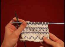 Fair Isle technique video on KnittingHelp.com