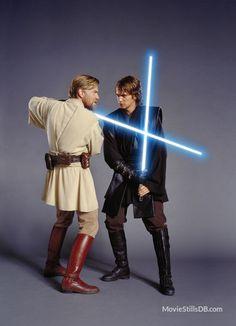 Ewan McGregor and Hayden Christensen in Star Wars: Episode III - Revenge of the Sith Anakin Vs Obi Wan, Anakin Vader, Darth Vader, Anakin Skywalker, Film Star Wars, Star Wars Jedi, Star Wars Poster, Star Wars Art, Hayden Christensen