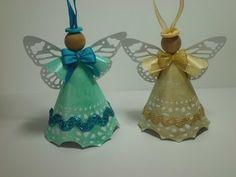 Cómo hacer unos ángeles decorativos - YouTube