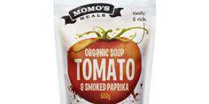 momo's Meals organic soup -packaging design