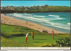 Fistral Bay and Pentire Point, Newquay, Cornwall, c.1970s - John Hinde Postcard