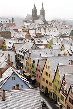 The houses of Rothenburg-ob-der-Tauber, Bavaria, Germany- I have been here twice and love it :)