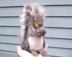 Needle Felted Animal / Squirrel Large Sculpture by GourmetFelted, $300.00
