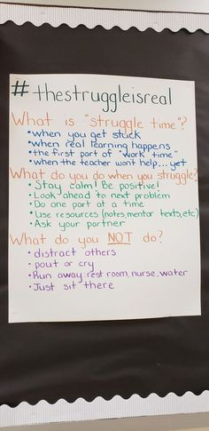 Classroom community - The struggle is real Classroom Behavior, Classroom Posters, School Classroom, Classroom Ideas, Animal Print Classroom, Classroom Mailboxes, Growth Mindset Classroom, Future Classroom, Teaching Strategies