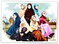 Islami Girl Cartoon, Cute Cartoon, Cartoon Art, Best Profile Pictures, Best Friend Pictures, Hijab Anime, Hijab Dp, Hijab Drawing, Best Friend Drawings