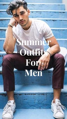 Mens Smart Casual Outfits, Mens Casual Suits, Casual Wear For Men, Cool Summer Outfits, Mens Suits, Designer Clothes For Men, Gentleman Style, Hats For Men, Menswear
