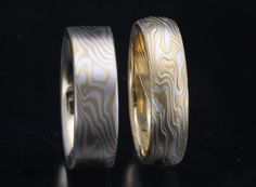 James Binnion Mokume Gane with 18k Yellow Gold and Sterling Silver