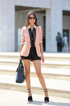 Love any blazer outfit!