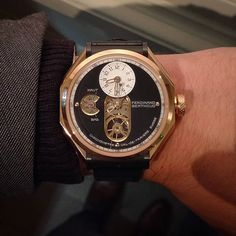 """Here it is on the wrist, the all new Ferdinand Berthoud FB1 in rose gold. #ablogtowatch #watchnerd #watchmaking #watchporn #horology #instawatch #womw #watchmovement #ferdinandberthoud #chopard #tourbillon #swisswatches @ferdinandberthoud @abtw_david"" Photo taken by @ablogtowatch on Instagram, pinned via the InstaPin iOS App! http://www.instapinapp.com (09/22/2015)"