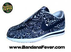the best attitude ef1f9 7ba3e Nike Bandana Fever Custom Bandana Nike Cortez WhiteNavyNavy Bandana Whole  ...