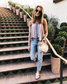 this rainbow stripe top on repeat