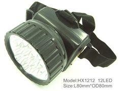 12LED miner headlamp, camping headlamp waterproof (HX-1212) - China waterproof camping headlamp, lingtingzhe