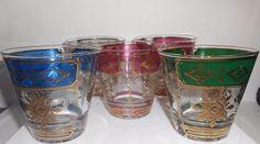Georges Briard Glasses Old Fashioned Mid Century Barware Set Of 5 #GeorgesBriard