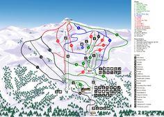 Mapa de pistas de la estacion de esqui de Portaine. Ofertas y paquetes durante toda la temporada de esquí