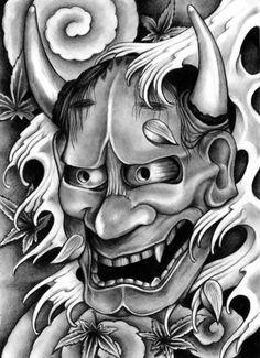 tatouage masque japonais 1461896295895 – My CMS Oni Tattoo, Hannya Maske Tattoo, Hanya Tattoo, Samurai Tattoo, Japanese Demon Mask Tattoo, Japanese Mask, Japanese Tattoo Art, Japanese Sleeve Tattoos, Mask Drawing