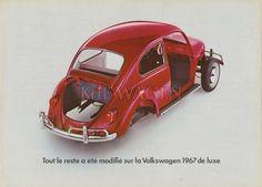 VW - 1966 - Tout le reste a ete modifie sur la Volkswagen 1967 de luxe - 645 101 400  9/66-87/13 - [8347]-1