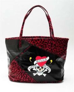 Ed Hardy Kim Leo Patch Tote New $128.00 Shoulder Bag $78