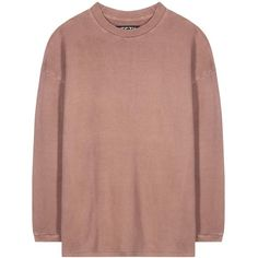 Yeezy Cotton Sweater (Season 1) ($395) ❤ liked on Polyvore featuring tops, sweaters, shirts, sweatshirts, pink, shirt sweater, pink shirt, pink sweater, adidas originals shirt and shirts & tops