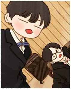 ©aquiencorresponda :3 Yoonmin Fanart, Taekook, Bts Aegyo, Bts Chibi, Kpop Fanart, Jooheon, Winwin, Cute Photos, Wattpad
