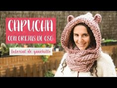 Capucha de ganchillo con orejas de oso - nivel fácil - YouTube