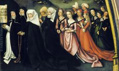 Porträt Weibliche Angehörige der Familie Walther [Portrait of the Female Members of the Family Walther], 1502 Augsburg