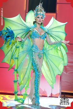 Nick Verreos: Pageant Minute: Miss Universe 2011 National Costumes--Latin America! Miss Universe Costumes, Miss Universe National Costume, Sea Creature Costume, Sea Costume, Stilt Costume, Fish Costume, Carnival Costumes, Halloween Costumes, Mermaid Costumes