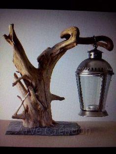 Lanterne bois flotte