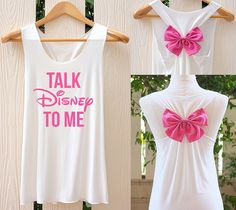 Talk Disney To Me Bow Tank Top. Racerback bow. by TheClover88