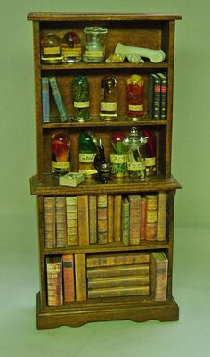 The Dolls House Miniature Mahogany style Museum / Collector's Collection.