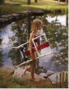 UPRIGHT LOOM - PVC PIPE weaving loom - plans included
