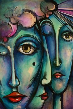 Together Painting  - Together Fine Art Print art by Michael Lang