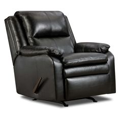 Have to have it. Simmons Soho Bonded Leather Rocker Recliner - $399.99 @hayneedle